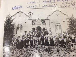 The garden provided a backdrop for many school photos. The Convent had many locals captured on film a the front steps. Here we can see the formal garden bed which is well established.