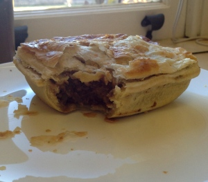 The classic plain meat pie