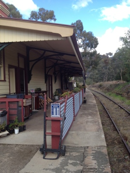 Kandos Railway Station -  now down the Track Cafe. Great seeing the stations being used for the community and commerce