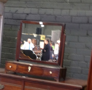 Mahogany mirror with drawers. I now just need the chest of drawers for it to sit on.