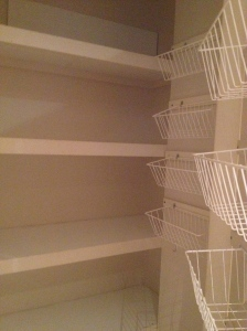 This was once a pantry that Viggo Mortensen in The Road would only have dreamt of