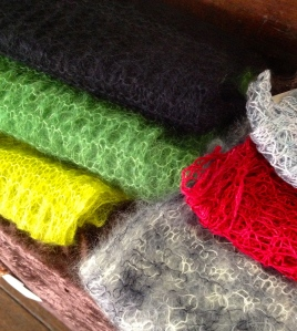 I probably have stocked up enough on the laceweight mohair and lace scarves