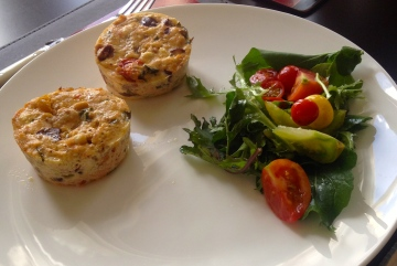 Baked ricotta with Convent salad dressed with apricot vinaigrette