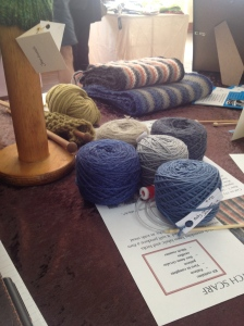 The linen stitch scarves were a hit and also provide another kit for keen knitters. These are not a quick knit.