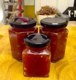Tangy and thick, Chilli Jam.