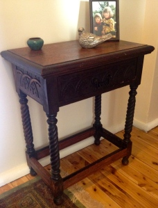 A sweet little antique oak hall table.