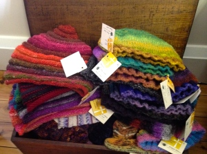 Beanies galore! The top ones are new. Hoping the spiral Noro beanies are a hit.