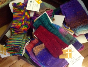 And of course lots of mitts for frozen hands. Good for a cold Winter Market day.