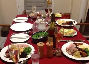 The feast begins.