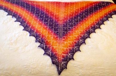Adamas shawl in Zauberball