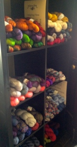 Hedgehog Fibres from Ireland and Claudia's Handpainted Yarns from the US - hand dyed luxury fibres saturated in colour