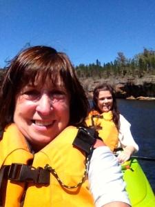 Kayaking selfie