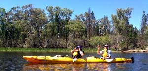 Our kayaking buddies.