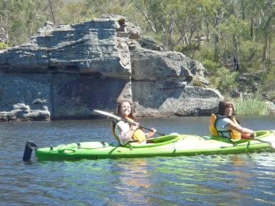 Yep, that's us paddling away!