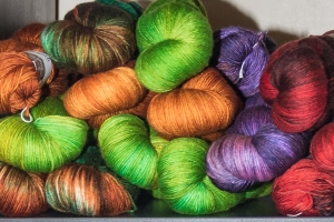 The Hedgehog Fibre Collection from Ireland is attracting much attention - we love the names like Pod and Shamrock.