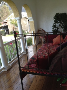 To this - the verandah outside my bedroom. And now is Popcorn's favourite place.