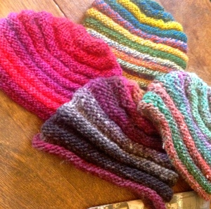 Beanies galore. We don't get to enjoy them for long.