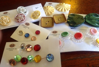 Beautiful buttons being packaged up for the shop.