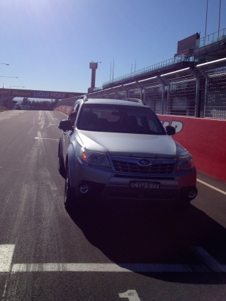 That's me on the grid - 1st position - at Mount Panorama, Bathurst. Don't think I'd win any races.