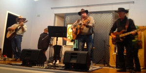Ged, Trudy and Pete Smith performing at Rylstone.