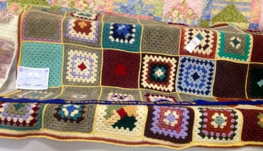 G's granny squares blankets are always crowd pleasers.