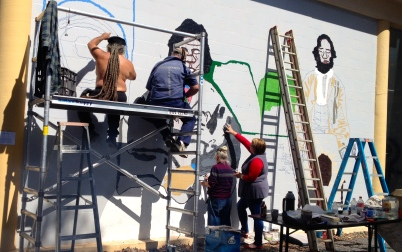 Djon Mundine's mural will be a greatly valued legacy for Kandos.