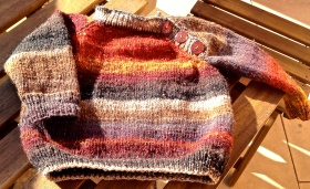 We love the Noro Sock for this jumper.