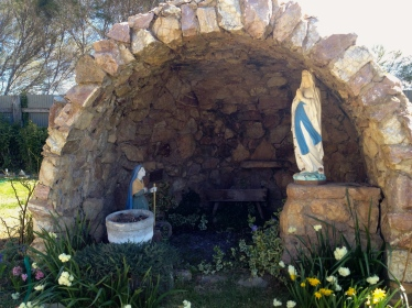 Original inhabitants - Mary and Bernadette in the Grotto which was built by locals in the 1950's.