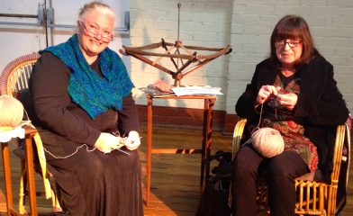 The locals were hardly surprised to see us sitting and knitting at the opening.